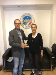 Prof. Francesco Proietti e Presidente Yoga Alliance